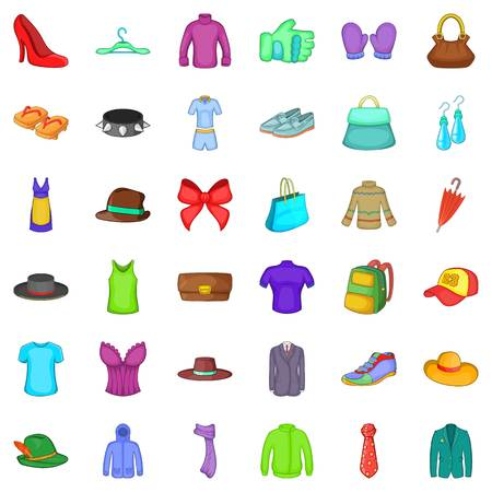 Bow icons set. Cartoon style of 36 bow vector icons for web isolated on white background Illustration