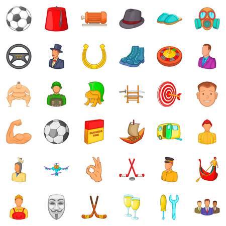 Horseshoe icons set. Cartoon style of 36 horseshoe vector icons for web isolated on white background