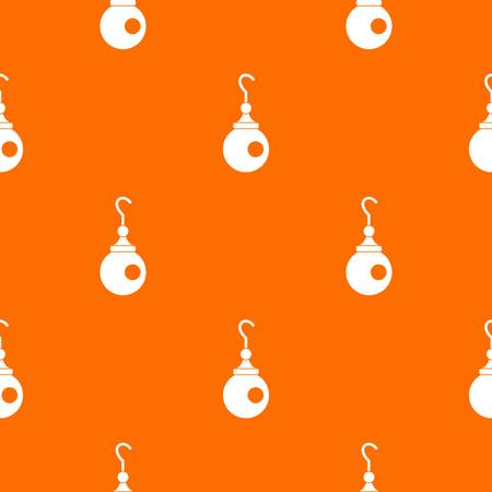 Earring pattern repeat seamless in orange color for any design. Vector geometric illustration Illustration