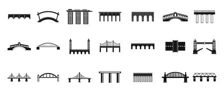 Jeu d'icônes de pont, style simple