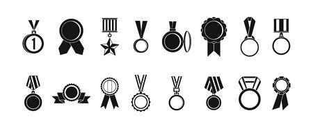 Conjunto de iconos de medalla, estilo simple