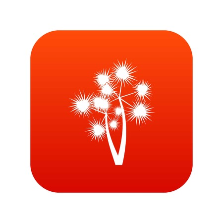 Prickly palm icon digital red for any design isolated on white vector illustration