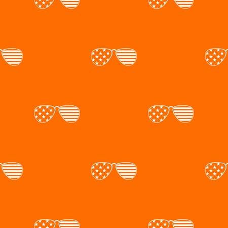 American glasses pattern repeat seamless in orange color for any design. Vector geometric illustration Illustration