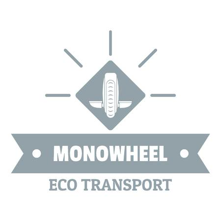 Lifestyle mono wheel logo, simple gray style Illustration