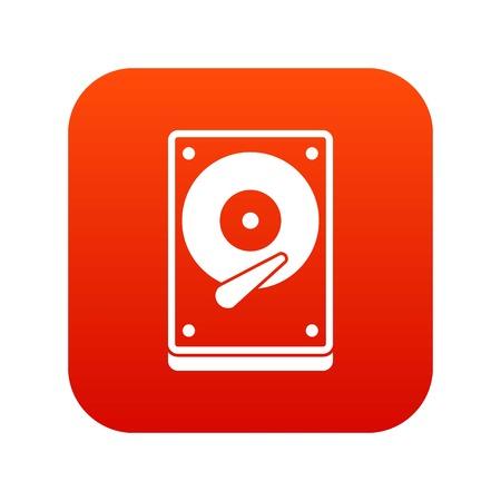 HDD icon digital red
