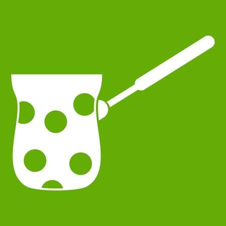 Cezve icon green Illustration