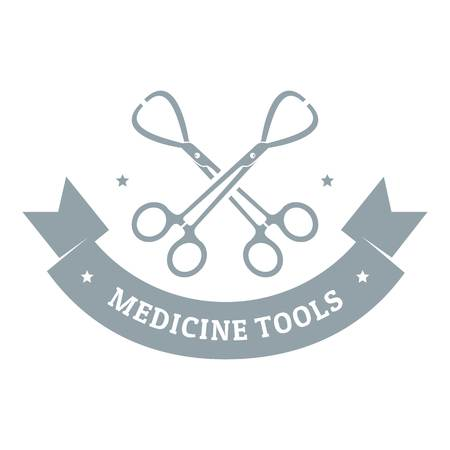 Instrument for medicine logo. Gray monochrome illustration of instrument for medicine vector logo for web Illustration