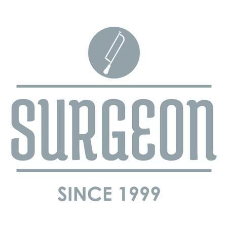 Surgeon logo. Gray monochrome illustration of surgeon vector logo for web