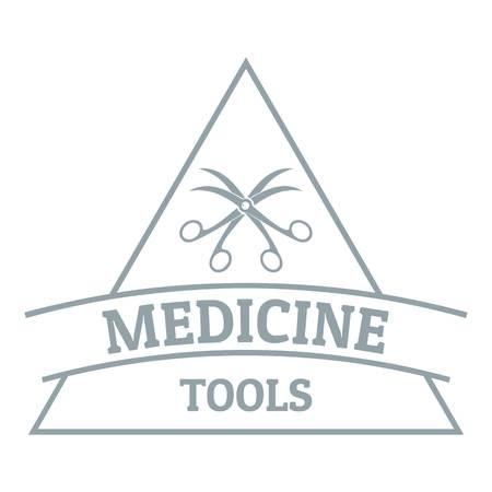 Equipment emblem logo. Gray monochrome illustration of equipment emblem vector logo for web Illustration