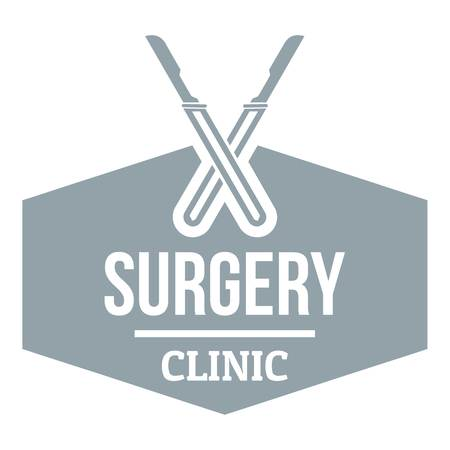 Clinic instrument logo. Gray monochrome illustration of clinic instrument vector logo for web