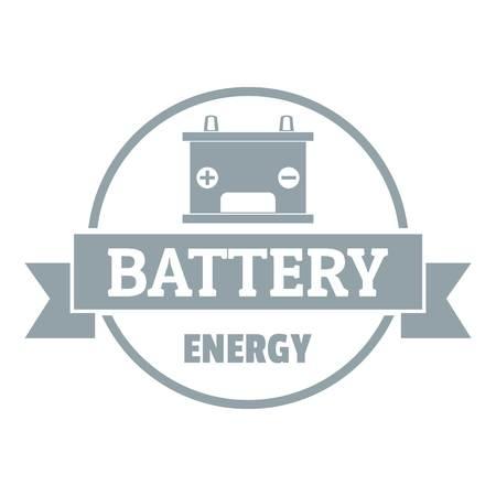 자동차 배터리 로고. 웹에 대 한 자동차 배터리 벡터 로고의 간단한 그림 일러스트