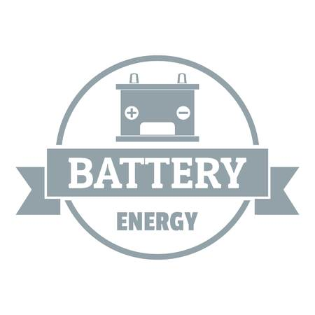 Car battery logo. Simple illustration of car battery vector logo for web