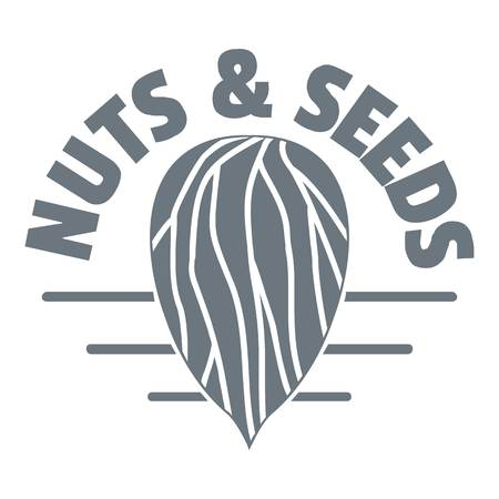 Nut and seed company logo, vintage style