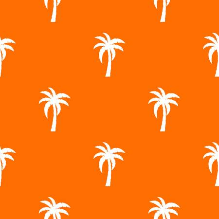 Palm pattern repeat seamless in orange color for any design. Vector geometric illustration
