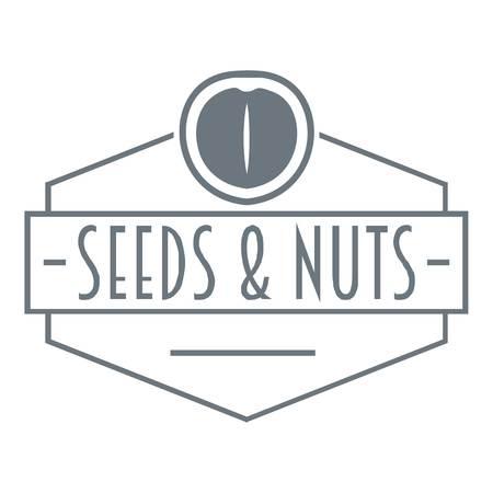 Nut and seed emblem logo, vintage style Illusztráció