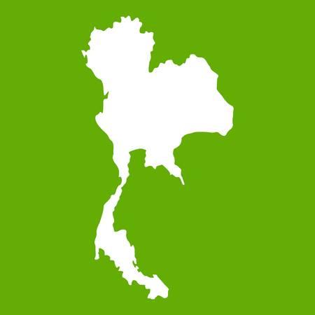 Thailand map icon green