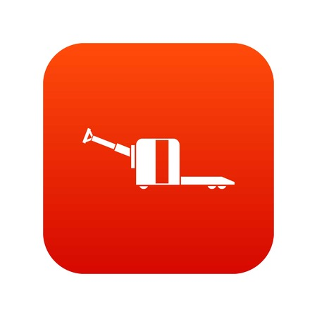 Cart on wheels icon digital red