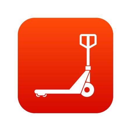 Hand truck icon digital red Illustration