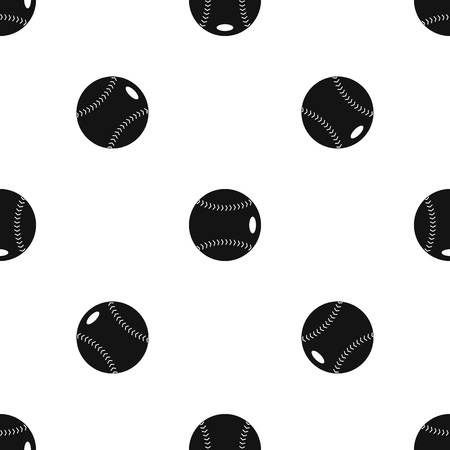 Baseball ball pattern seamless black