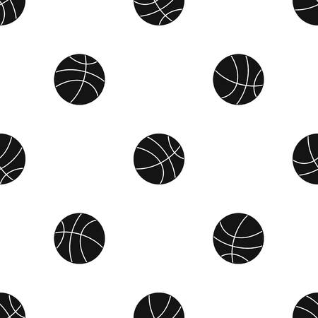 Basketball ball pattern seamless black