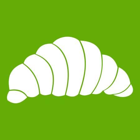 Croissant icon green Stock Vector - 88067019