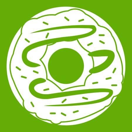 Chocolate donut icon green Illustration