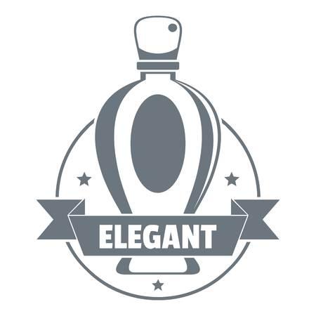 Elegant perfume logo, vintage style Çizim