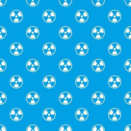 Danger nuclear pattern seamless blue Illustration