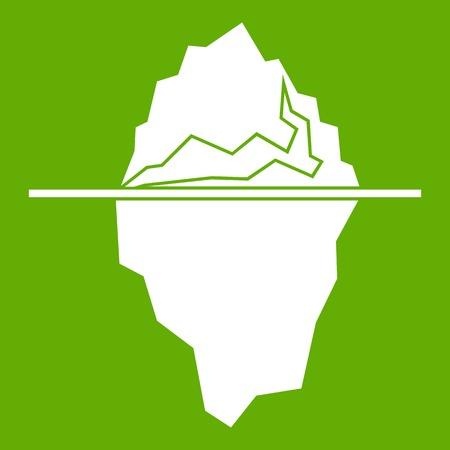 Iceberg icon green Illustration