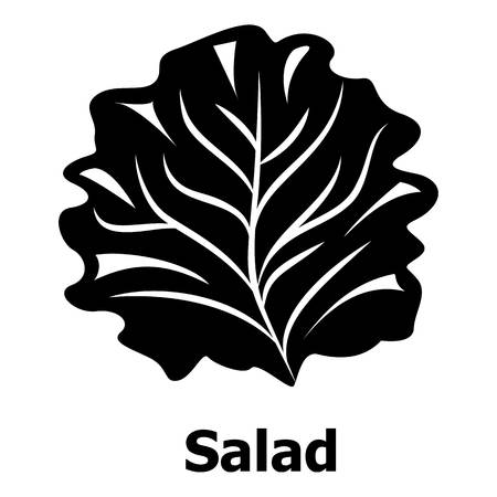 Salad icon, simple black style Illustration