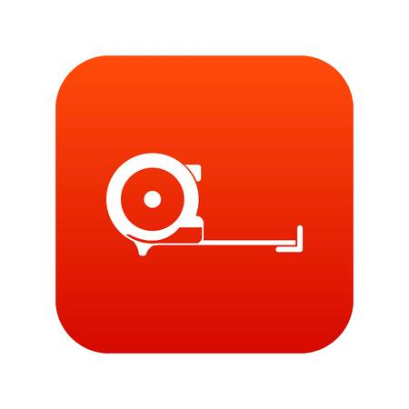 millimeters: Construction roulette icon digital red
