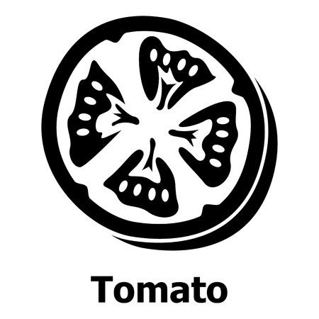 Tomato icon, simple black style