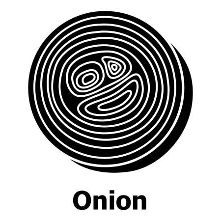 Zwiebel-Symbol, einfacher schwarzer Stil Standard-Bild - 88098879