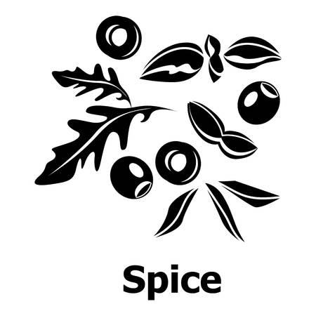 oregano: Spice icon, simple black style Illustration