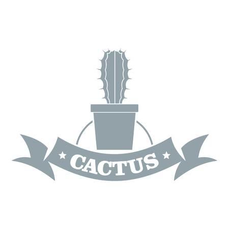 Arizona cactus, simple gray style