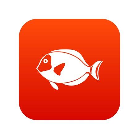 Surgeon fish icon digital red