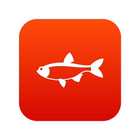 scardinius: Rudd fish icon digital red for any design isolated on white vector illustration Illustration
