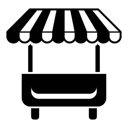 Local stall icon. Simple illustration of local stall vector icon for web Illustration