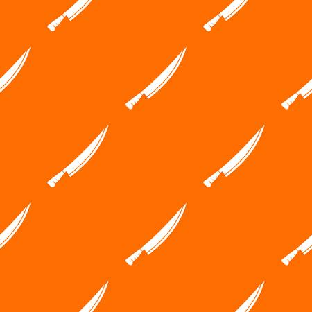 Long knife pattern repeat seamless in orange color for any design. Vector geometric illustration Illustration