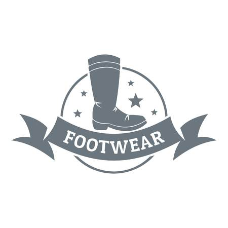 Footwear logo. Vintage illustration of footwear vector logo for web