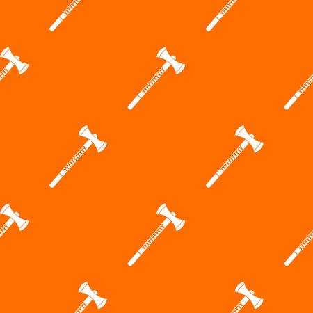 Big ax pattern repeat seamless in orange color for any design. Vector geometric illustration