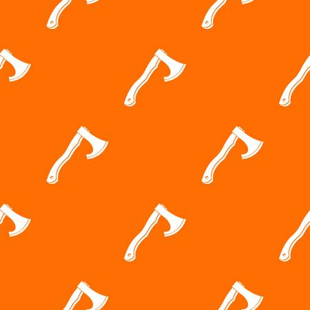 Hatchet pattern repeat seamless in orange color for any design. Vector geometric illustration Illustration