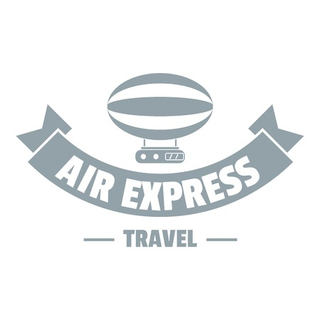 Tourism dirigible. Simple illustration of tourism dirigible vector for web
