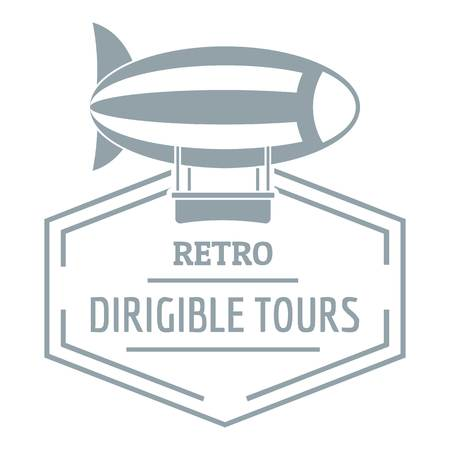Dirigible, simple gray style