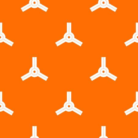 asphalt texture: Roundabout pattern repeat seamless in orange color for any design. Vector geometric illustration