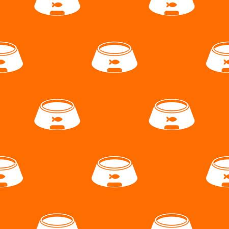 Bowl for animal pattern repeat seamless in orange color for any design. Vector geometric illustration Illustration