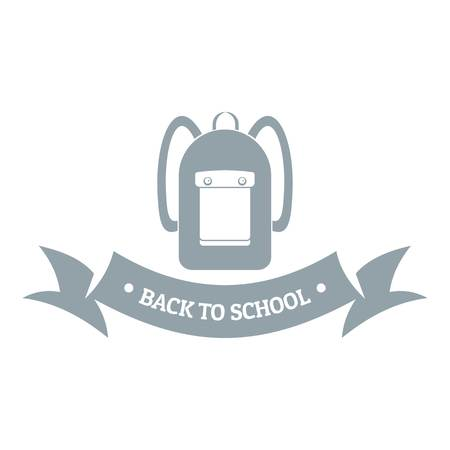 suitcase packing: Simple illustration of school bags vector  for web