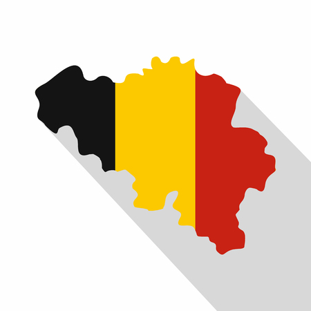 Germany map icon. Flat illustration of germany map vector icon for web
