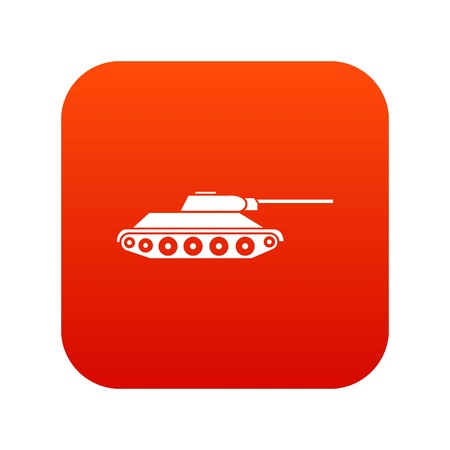 Tank icon digital red for any design isolated on white vector illustration