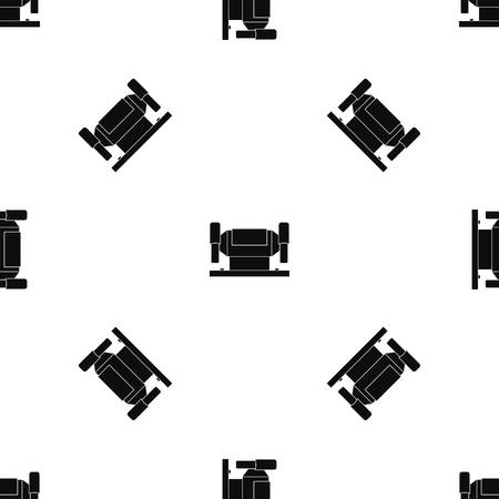 Metalworking machine pattern repeat seamless in black color for any design. Vector geometric illustration